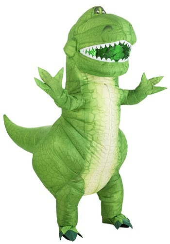 Click Here to buy Toy Story Rex Inflatable Costume for Adults from HalloweenCostumes, CDN Funds