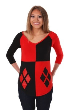 Women's Harley Quinn Diamond Raglan