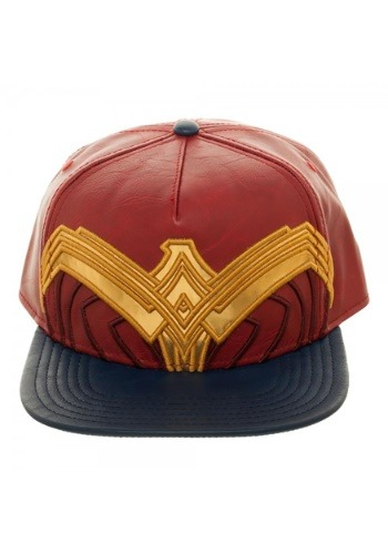 Wonder Woman Suit Up Applique Snapback Hat