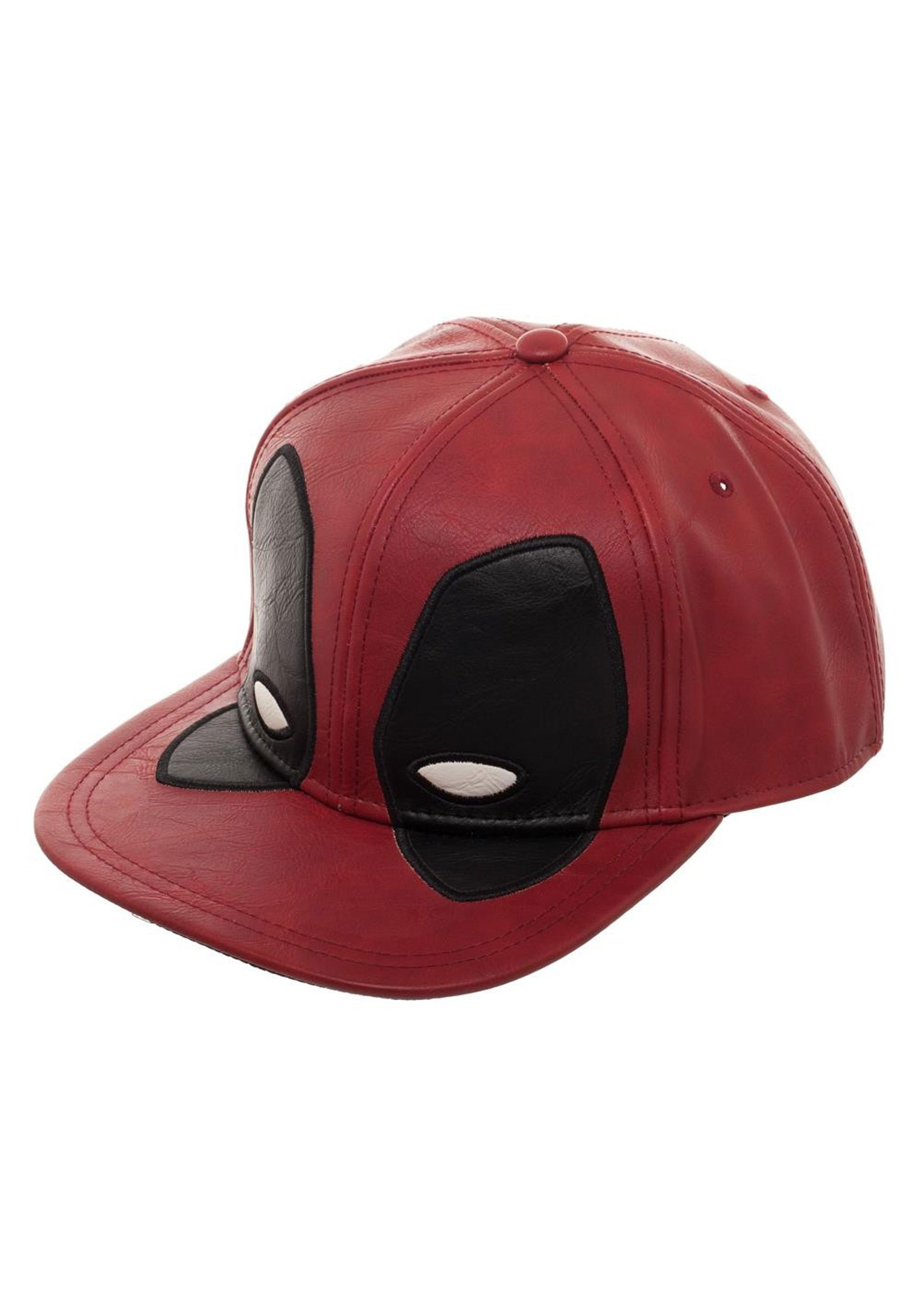 ... Deadpool  Big Face Distressed PU Snapback Hat 3 cc44c9ebe1c