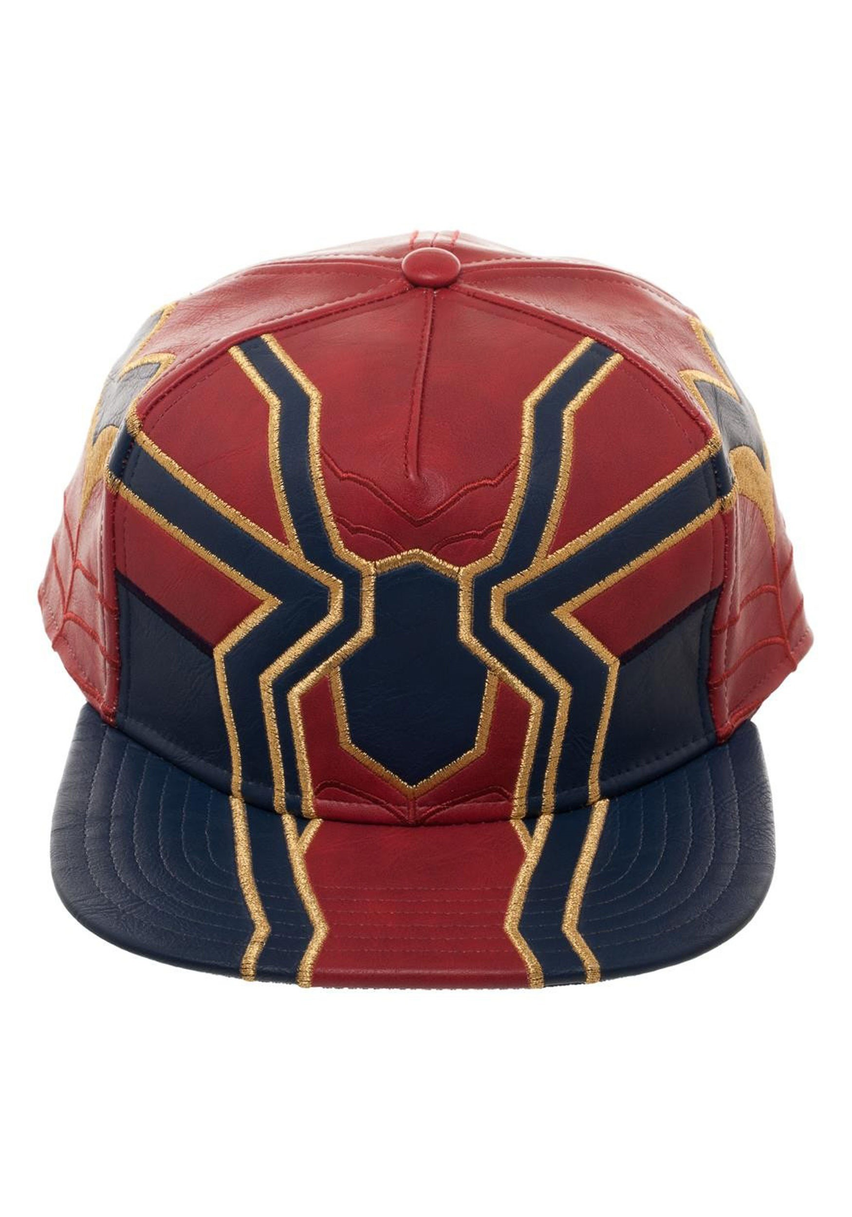 Marvel Avengers Infinity War Iron Spider Suit Up PU Snapback Hat 85a52d0580e4