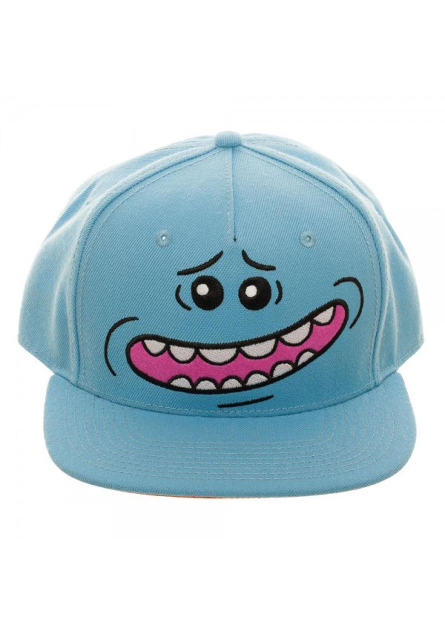 b9c76d4cd36f8 The Rick and Morty Mr. Meeseeks Big Face Snapback Hat
