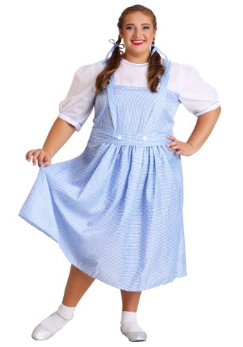 Click Here to buy Kansas Girl Plus Size Costume 18, 20, 22, 24, 26, 28 from HalloweenCostumes, CDN Funds