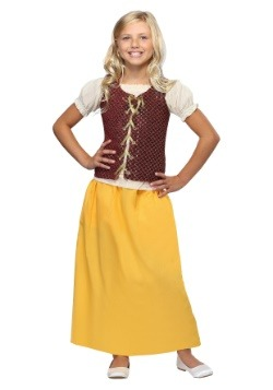 Girls Red Peasant Dress1