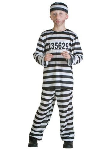Boys Prisoner Costume – Size: L – Polyester