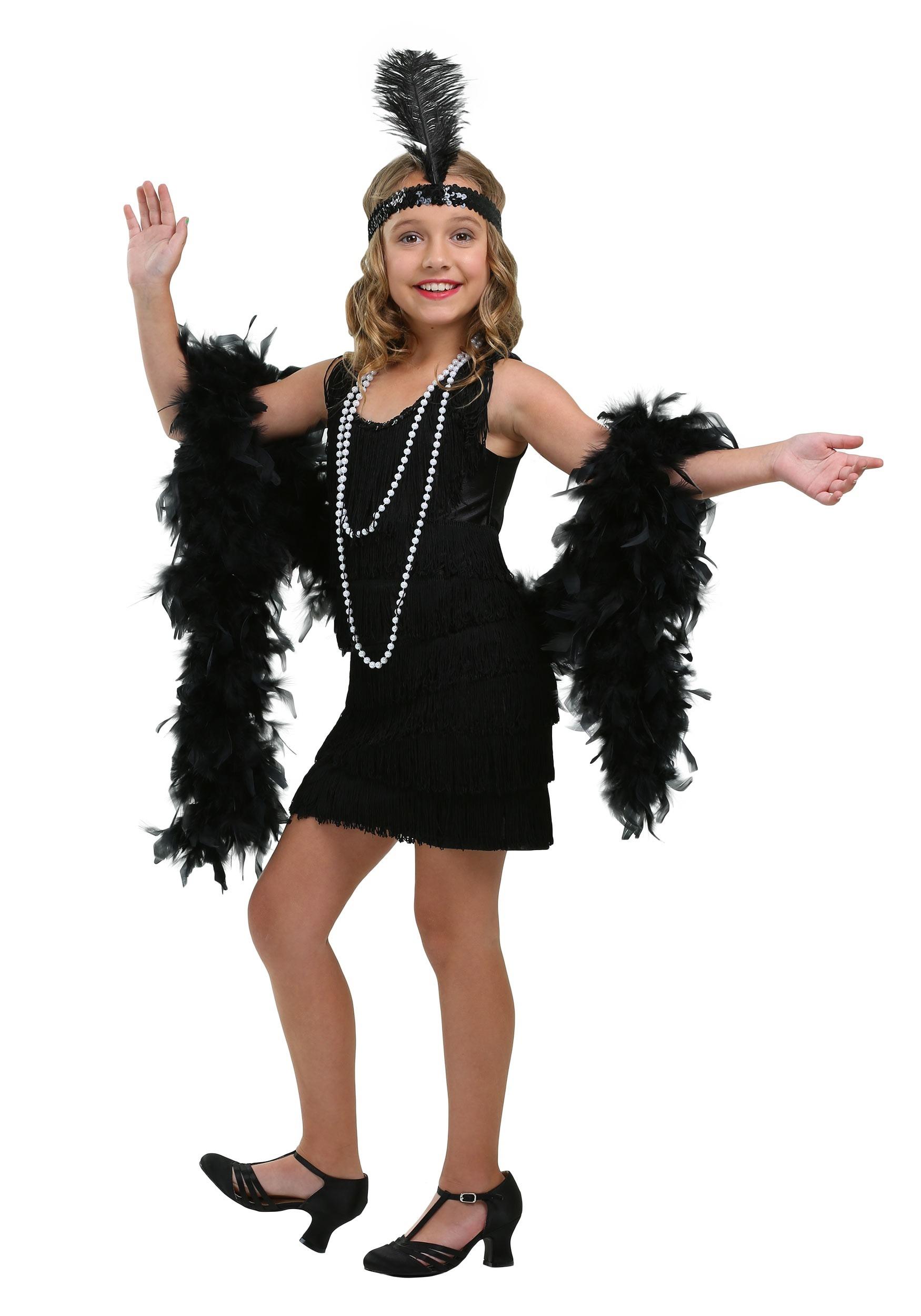 Child Black Fringe Flapper Costume