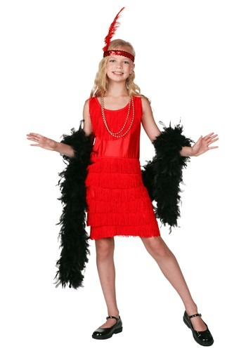 Child Red Fringe Flapper Costume By: Fun Costumes for the 2015 Costume season.