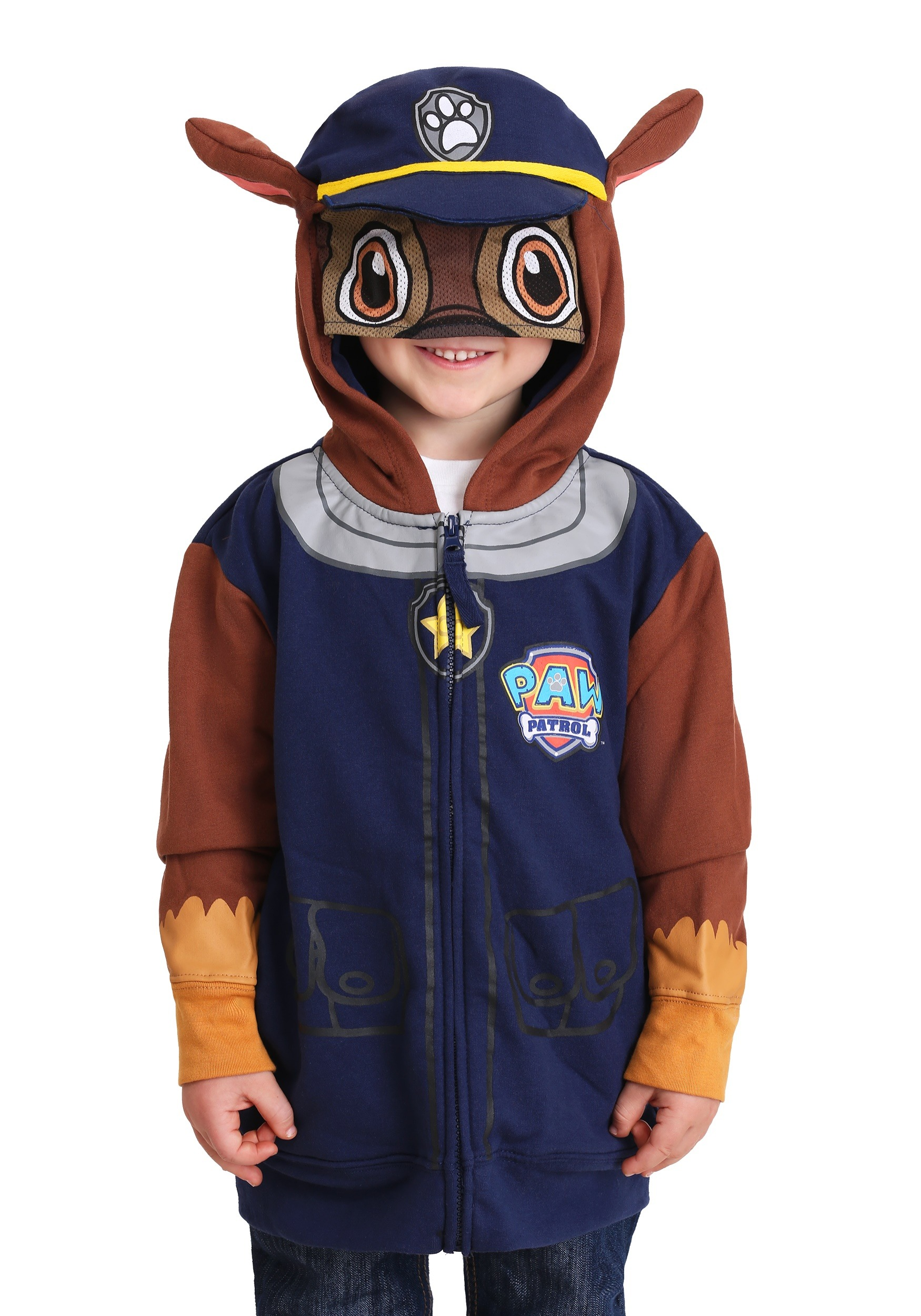 11100076e71c Paw Patrol Chase Costume Hoodie for Boys