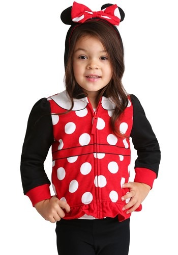 Girls Minnie Mouse Costume Hoodie