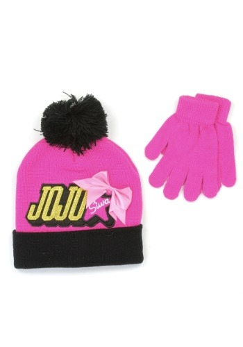 JoJo Siwa Girls Winter Hat and Gloves Set
