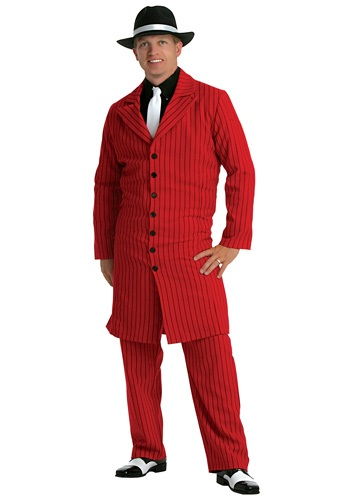 Red Gangster Zoot Suit Costume for Men