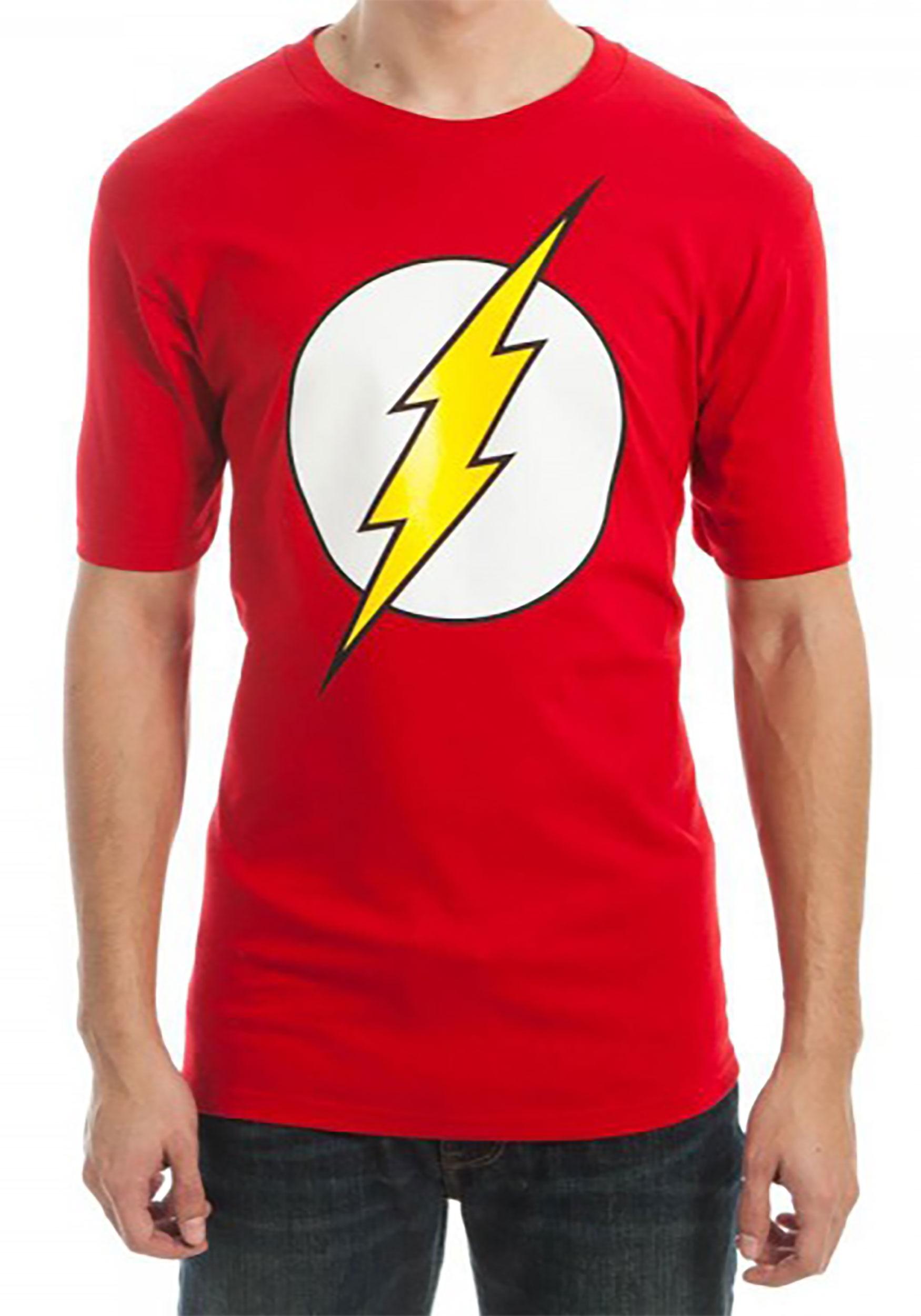 acc61313e Men's DC Comics Flash Logo Red T-Shirt