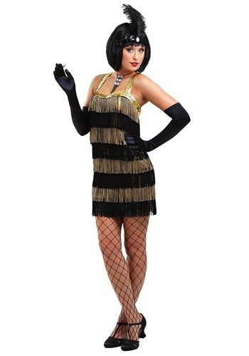 Fringe Gold Flapper Costume By: Fun Costumes for the 2015 Costume season.