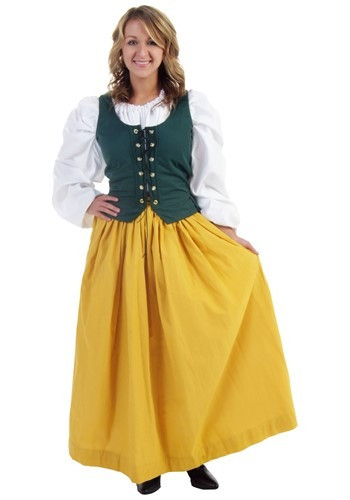 Gold Peasant Skirt cc