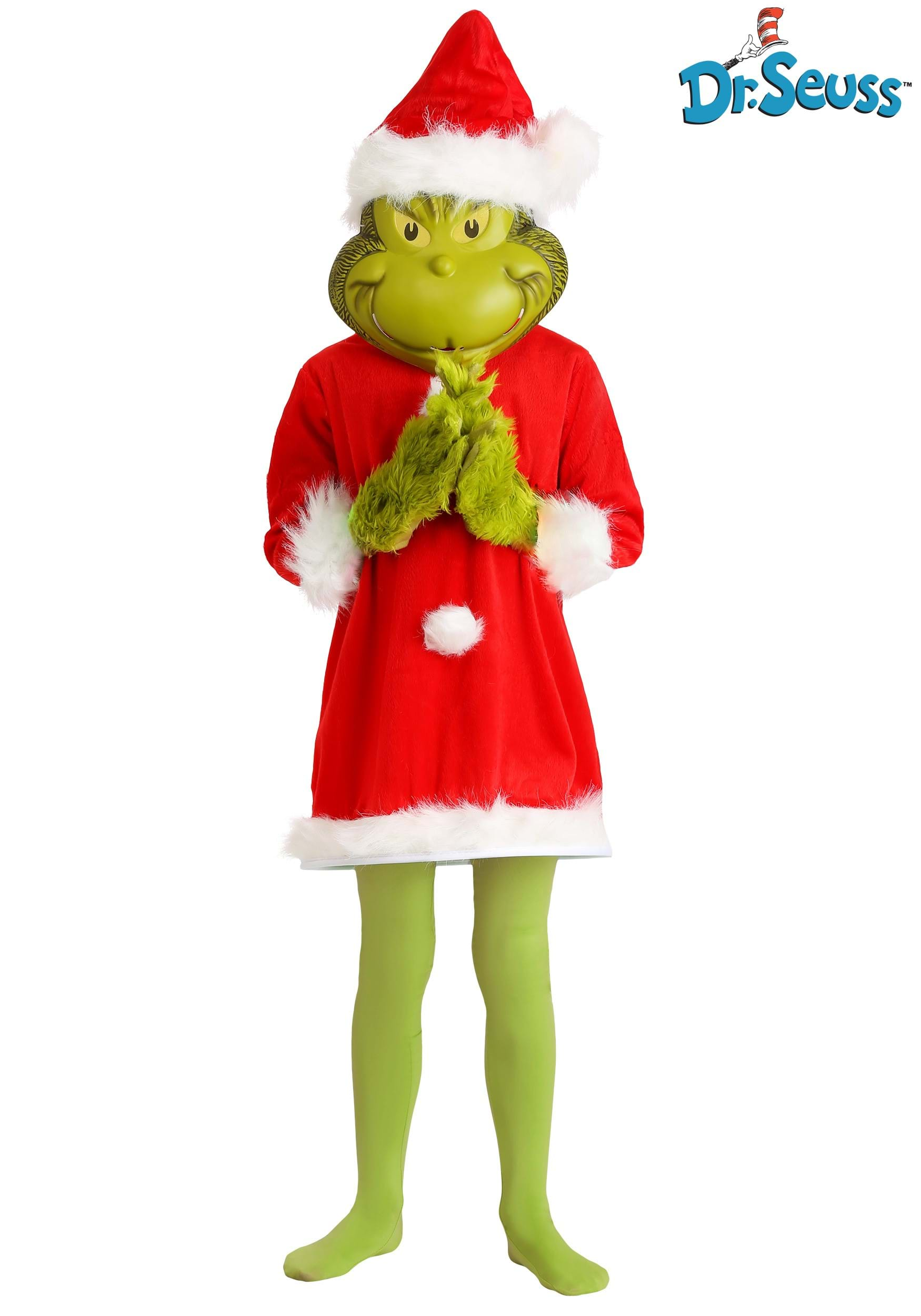 Deluxe The Grinch Santa Kids Costume with Mask