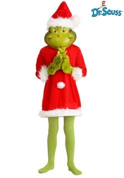 300638781e1f0 The Grinch Santa Deluxe Kids Costume with Mask update3