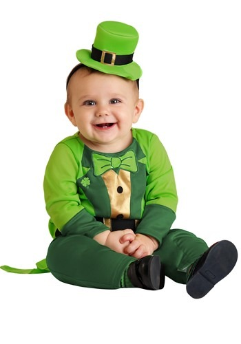 Click Here to buy Boys Leprechaun Baby Costume from HalloweenCostumes, CDN Funds