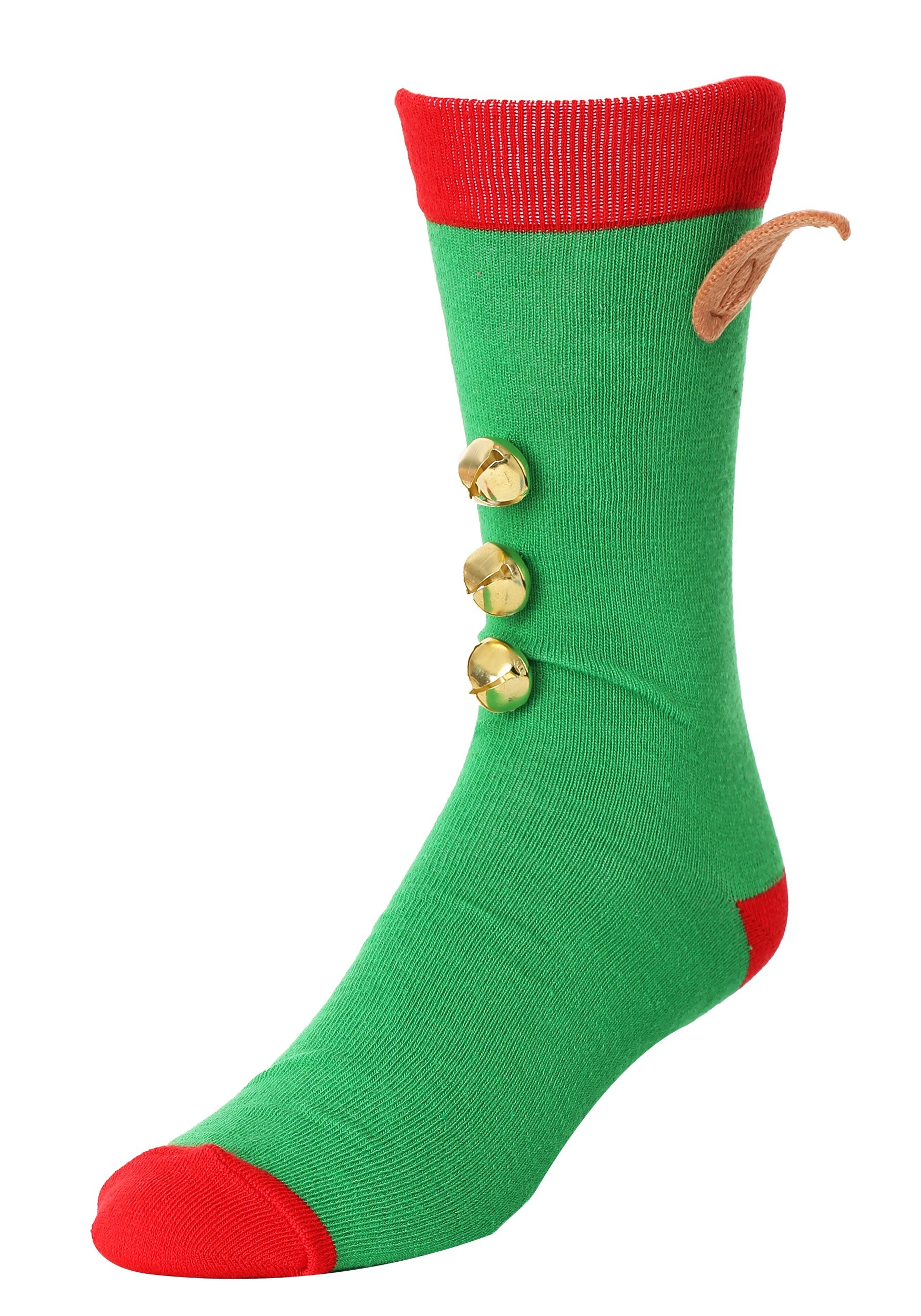 Novelty Elf 3D Crew Socks