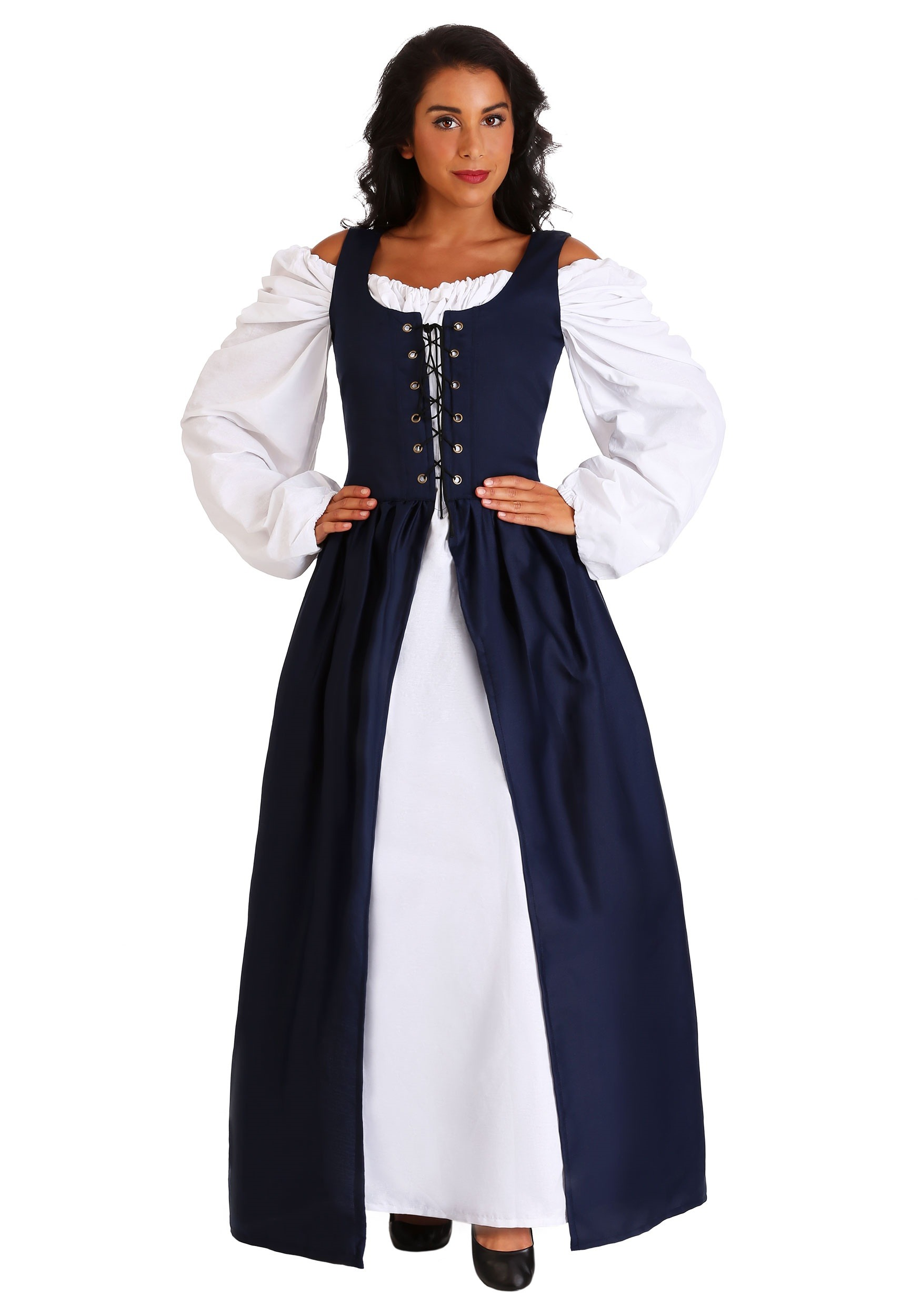 3628c647464e Navy Irish Renaissance Dress Costume