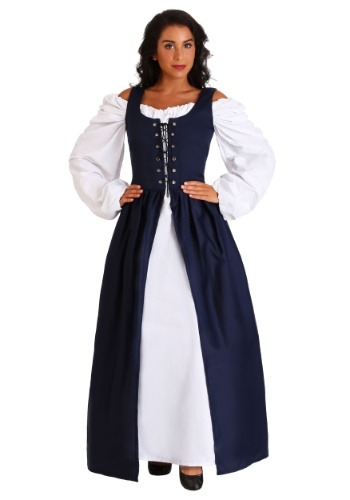 Click Here to buy Navy Irish Renaissance Dress from HalloweenCostumes, CDN Funds