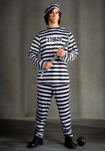Mens Prisoner Costume   Prison Jumpsuit Costumes By: Fun Costumes for the 2015 Costume season.