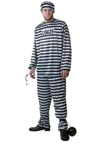 Mens Prisoner Costume – Size: L – Polyester