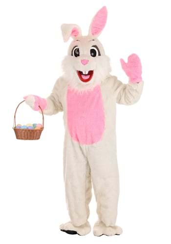 Easter Bunny Mascot Costume for Adults