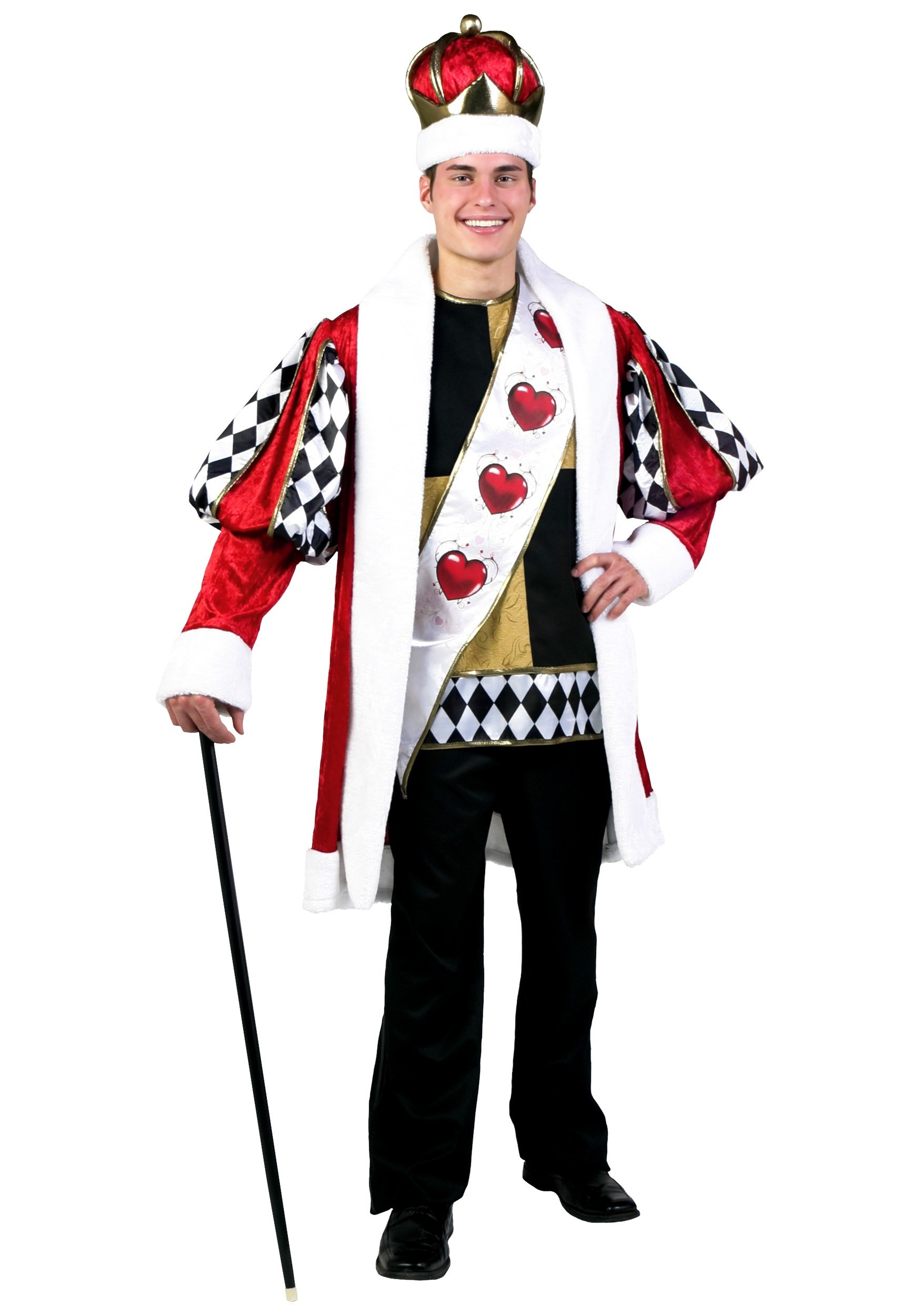 Deluxe King Of Hearts Costume - DeluxeAdultCostumes.com
