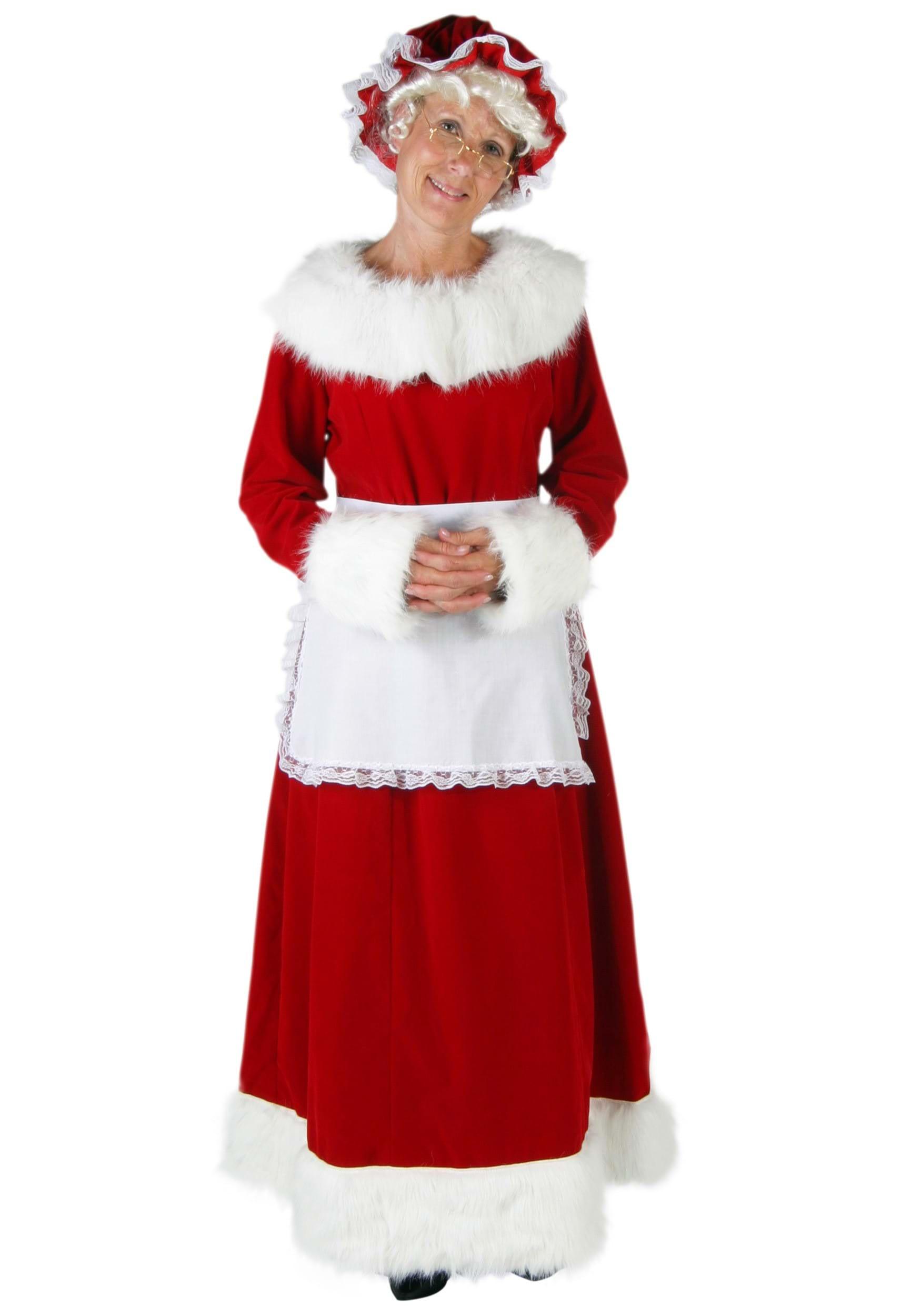 Red velvet santa dress