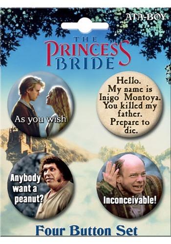 The Princess Bride 4-Button Set