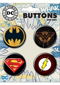 DC 2 Logo 4-Button Set