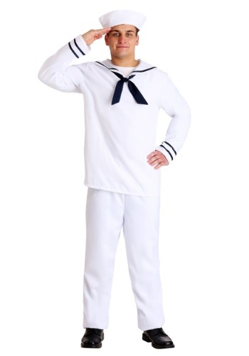 Click Here to buy Mens White Sailor Costume from HalloweenCostumes, USA Funds & Shipping