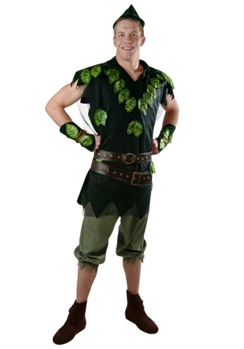Click Here to buy Adult Deluxe Peter Pan Costume from HalloweenCostumes, USA Funds & Shipping