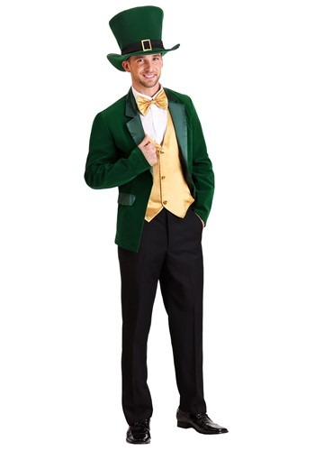 Men's Gold and Green Leprechaun Costume