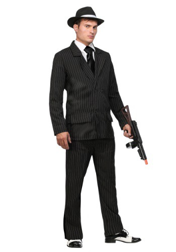 Deluxe Pin Stripe Gangster Suit  - Double Breasted Gangster Costume