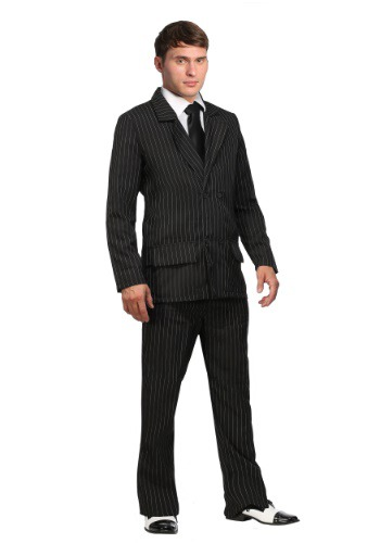 Click Here to buy Deluxe Pin Stripe Gangster Suit  - Double Breasted Gangster Costume from HalloweenCostumes, CDN Funds