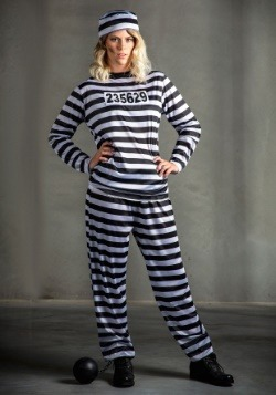Women's Striped Prisoner Costume-update2