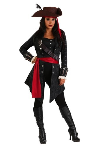 Womens Plus Size Fearless Pirate Costume