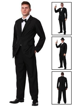 Mens Black Suit Costume Update