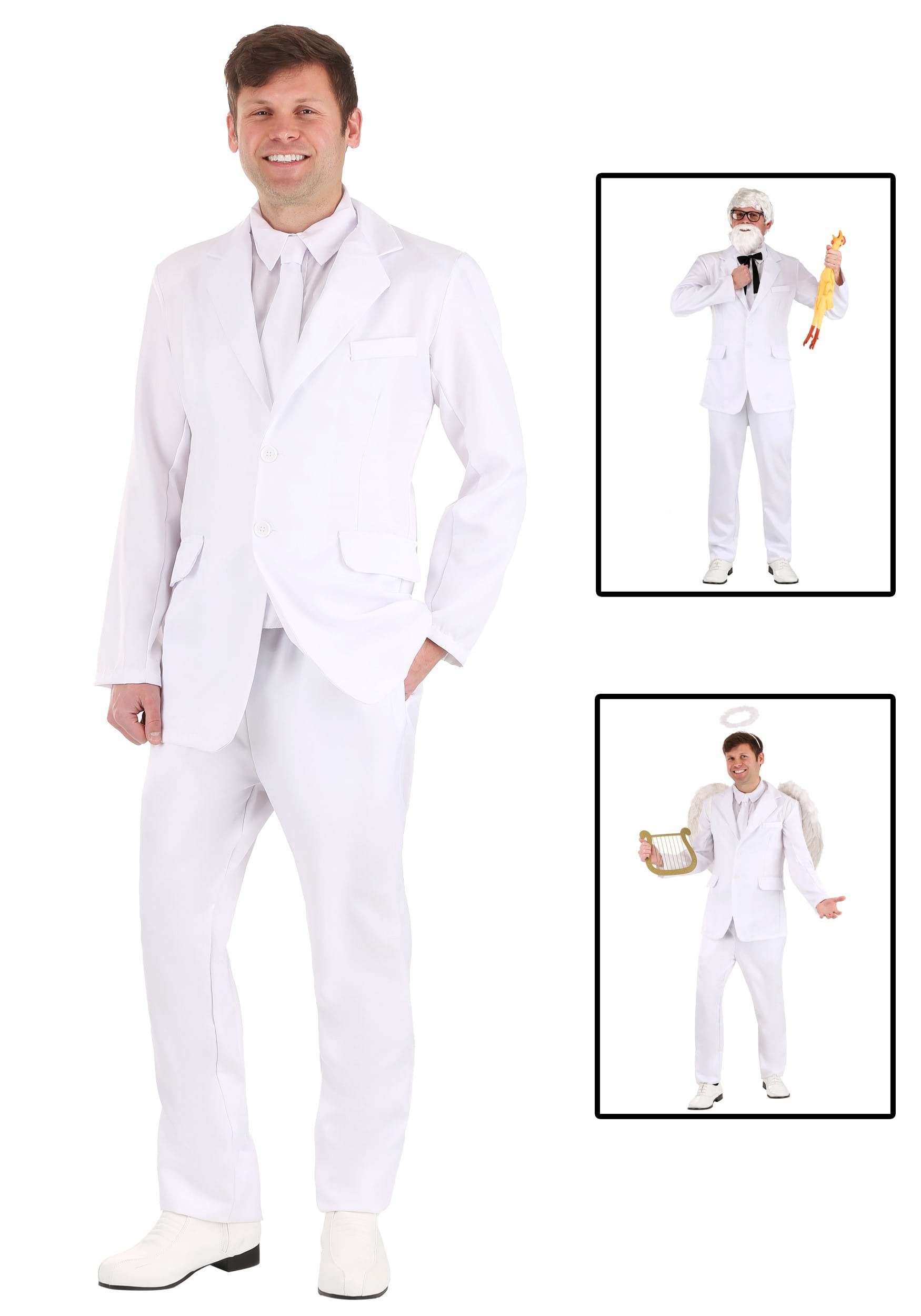 sc 1 st  Halloween Costumes & Mens White Suit Costume