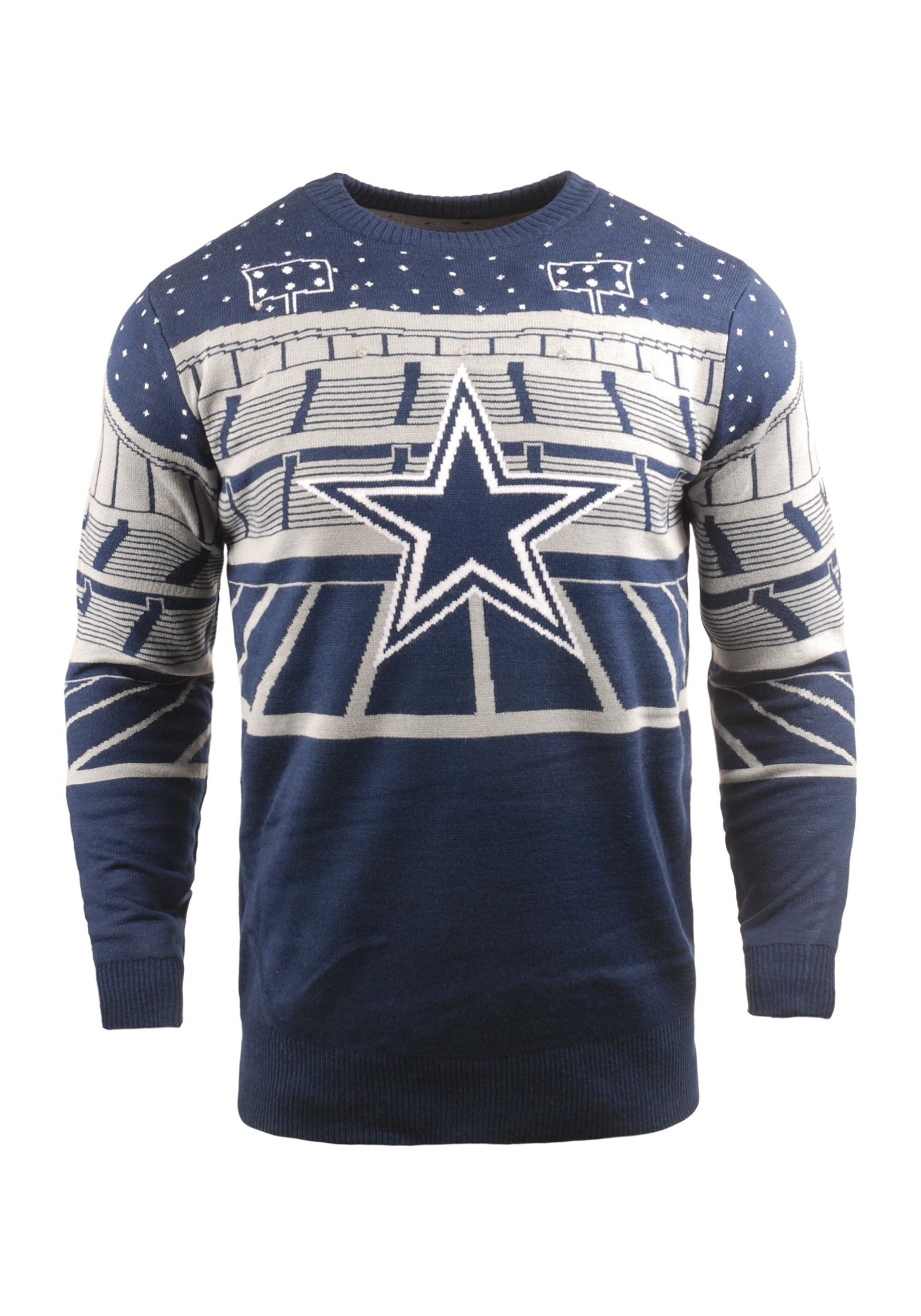 9205d43043d Light Up Dallas Cowboys Bluetooth Ugly Christmas Sweater1