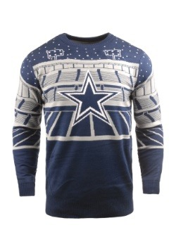 Light Up Dallas Cowboys Bluetooth Ugly Christmas Sweater1