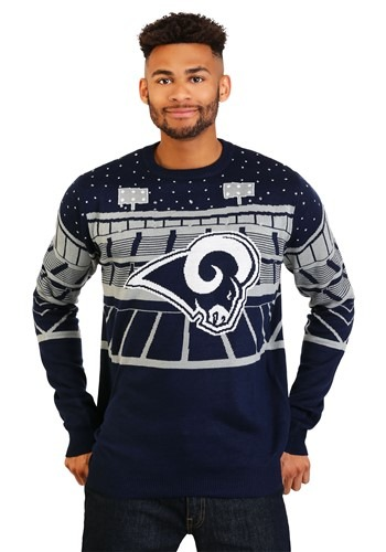 Light Up Bluetooth Los Angeles Rams Ugly Christmas Update Ma