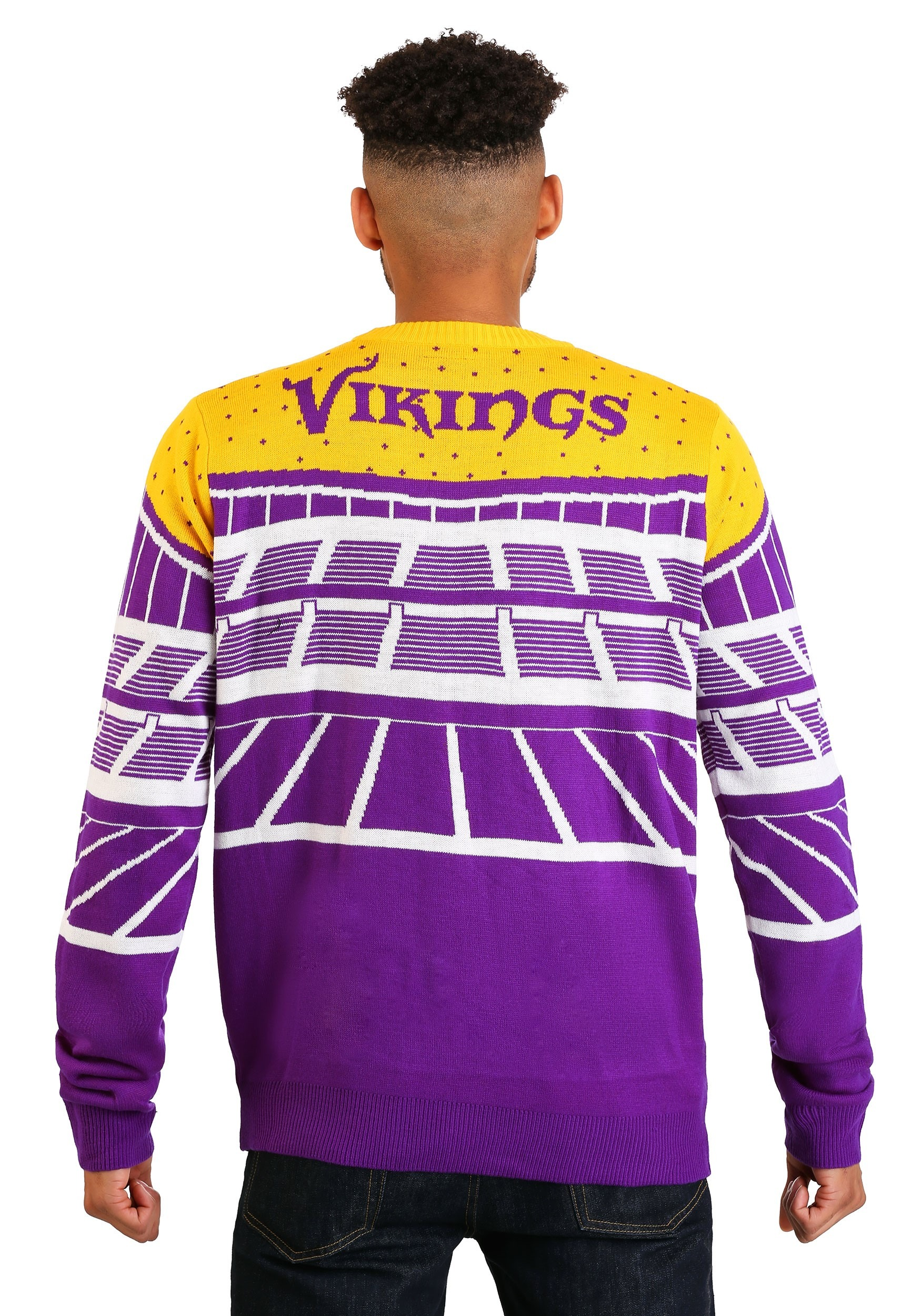 c2c68bb9f09 Minnesota Vikings Light Up Bluetooth Ugly Christmas Sweater