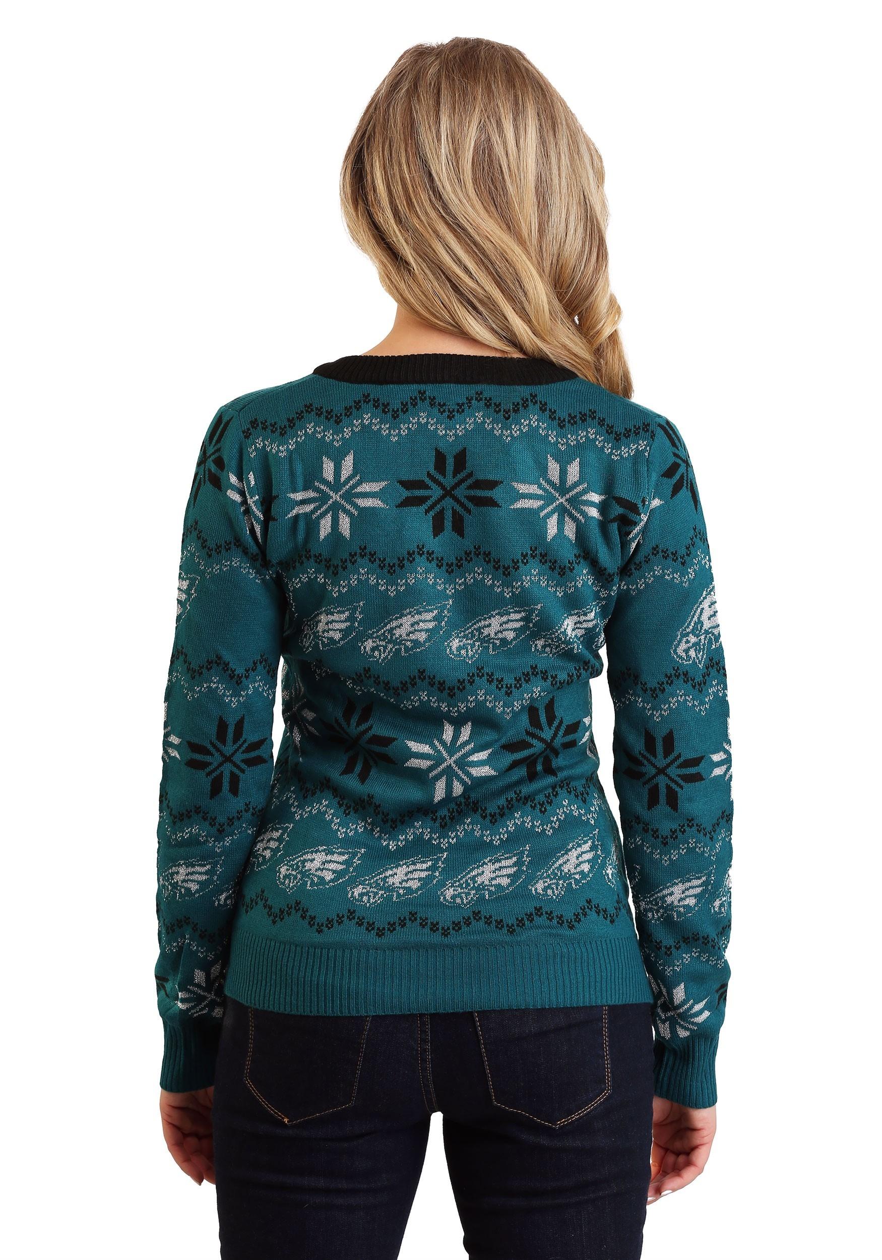 Philadelphia Eagles Light Up V Neck Bluetooth Sweater For Women