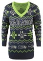 Seattle Seahawks Women's Light Up V-Neck Bluetooth Sweater