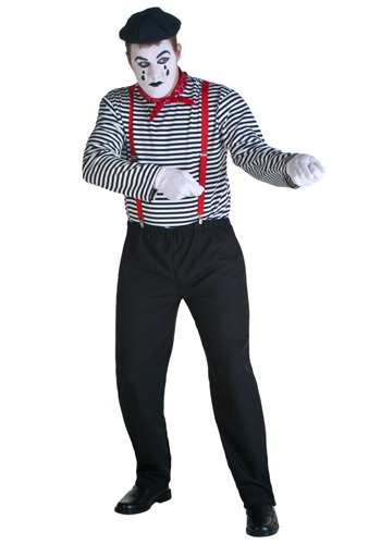 Click Here to buy Adult Mime Costume from HalloweenCostumes, USA Funds & Shipping