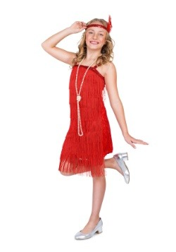 Girl's Red Flapper Costume