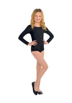 Girl's Black Bodysuit