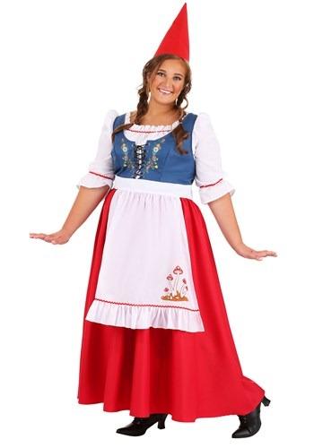 Plus Size Women's Garden Gnome Costume